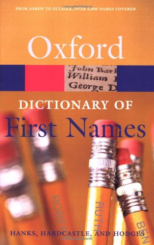 Book Cover A Dictionary of First Names (Oxford Quick Reference)