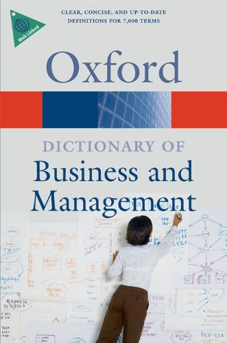 Book Cover A Dictionary of Business and Management (Oxford Quick Reference)