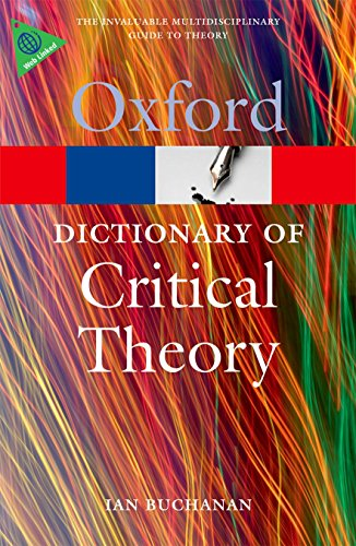 Book Cover A Dictionary of Critical Theory (Oxford Quick Reference)