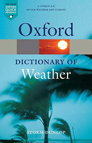 Book Cover A Dictionary of Weather (Oxford Quick Reference)