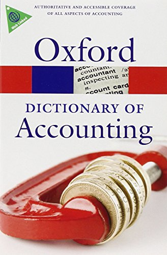Book Cover A Dictionary of Accounting (Oxford Quick Reference)
