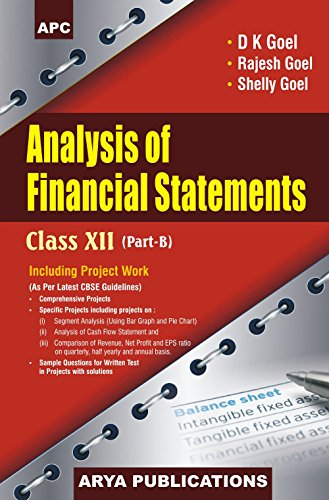 Book Cover Analysis of Financial Statements Class XII, Part-B (Including Project Work)