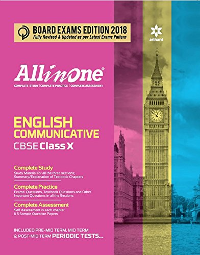 Book Cover All In One English Communicative CBSE Class 10th