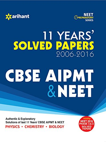 Book Cover 11 Years CBSE AIPMT & NEET Solved Papers 2006-2016