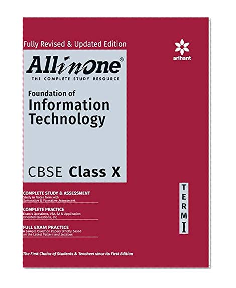 Book Cover All-In-One Foundation Of Information Technology CBSE Class 10th Term-I (Old Edition)