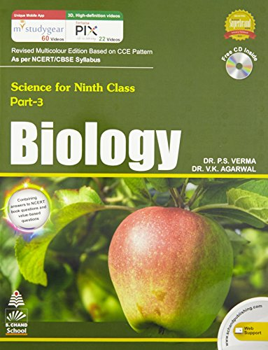 Book Cover BIOLOGY : Science for Ninth Class Part- 3, PB....Verma P S