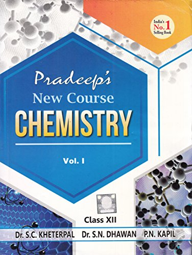 Book Cover Pradeep's New Course Chemistry Class 12 - Vol. I & II