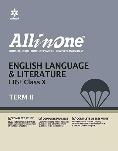 Book Cover All in One English Language & Literature CBSE Class 10 Term - II